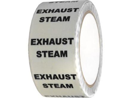 Exhaust steam pipeline identification tape.