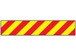 Reflective tape, red and yellow chevron