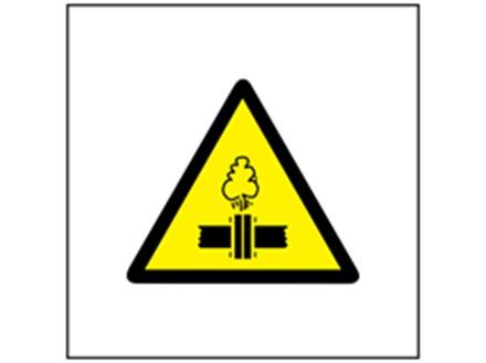 Pressure hazard symbol safety sign.