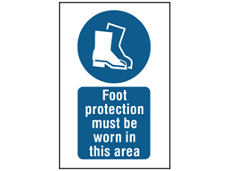 Foot Protection Must Be Worn In This Area Symbol And Text