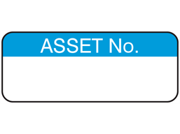 Asset number maintenance label.