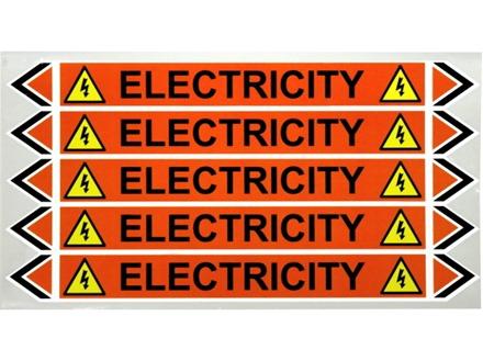Electricity flow marker label.