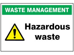 Hazardous Waste Sign Wass120 Label Source