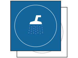 Shower symbol sign.