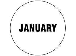 January inventory date label