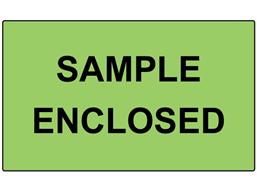 Sample enclosed labels