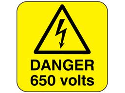 Danger 650 volts