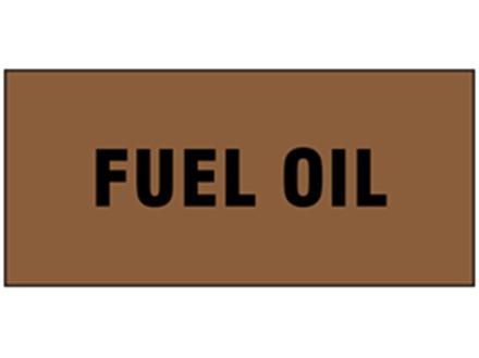 Fuel oil pipeline identification tape.