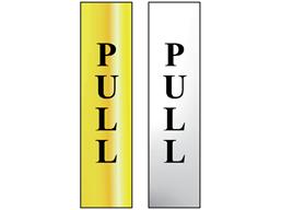 Pull metal doorplate