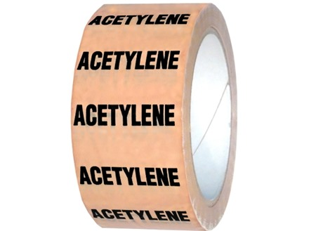 Acetylene pipeline identification tape.