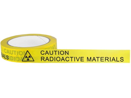 Caution Radioactive Material COSHH tape.