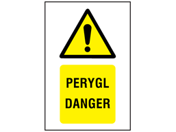 Perygl, Danger. Welsh English sign.