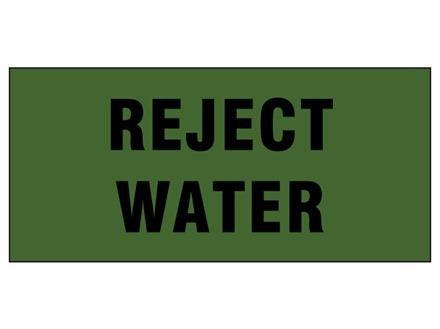 Reject water pipeline identification tape.