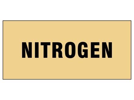 Nitrogen pipeline identification tape.