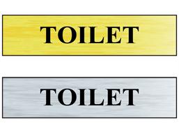 Toilet public area sign