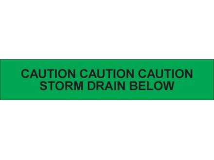 Caution storm drain below tape.