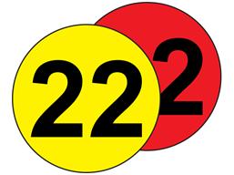 Aisle floor markers, 22