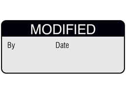 Modified aluminium foil labels.