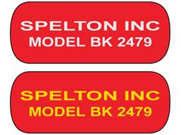 Metallic finish label, 25mm x 65mm