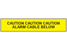 Caution alarm cable below tape.