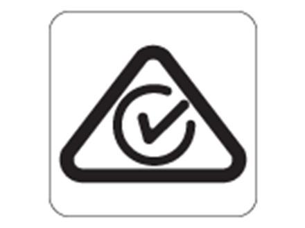 RCM01 Regulatory compliance mark labels.