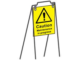 Lightweight metal notice stand.