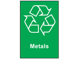 Metals Recycling Sign Env1070 Label Source