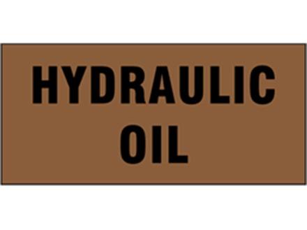 Hydraulic oil pipeline identification tape.