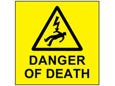 Danger of death label
