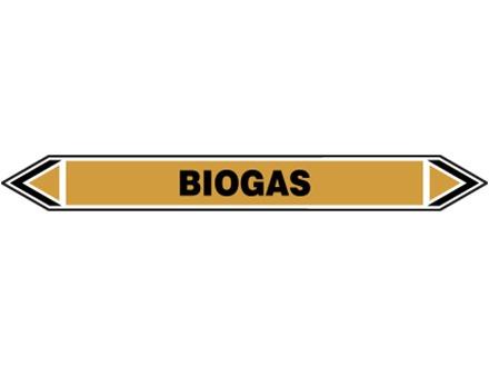 Biogas flow marker label.