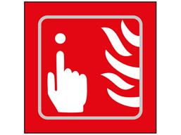 Fire alarm symbol sign.