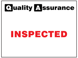 Inspected quality assurance label.