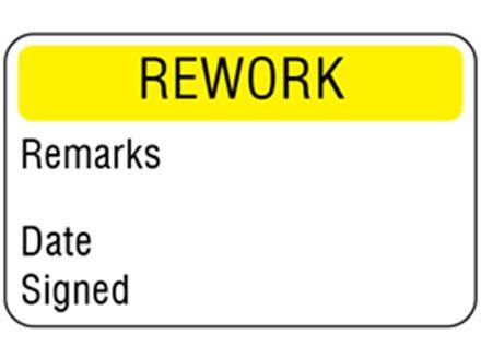 Rework quality assurance label