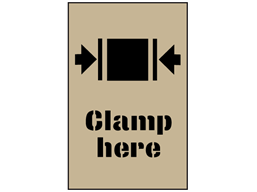 Clamp here stencil