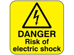 Danger risk of electric shock
