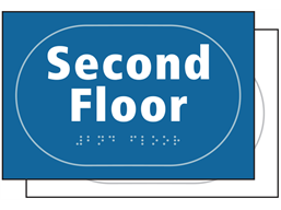 Second floor sign.