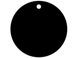 Plain black anodised aluminium tags