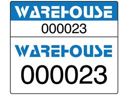Assetmark dual serial number label (full design), 26mm x 30mm