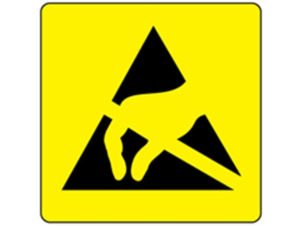 Esd Static Warning Symbol Label Sdl1000 Label Source