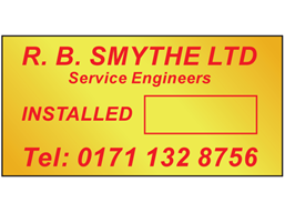 Brass nameplate (1 colour), 20mm x 40mm.