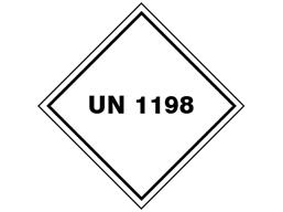 UN 1198 (Formaldehyde solutions) label.