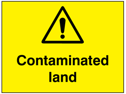 Contaminated land sign.