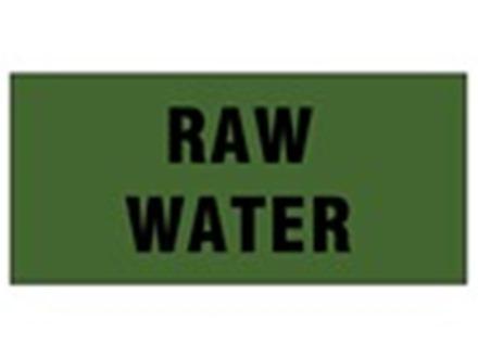 Raw water pipeline identification tape.