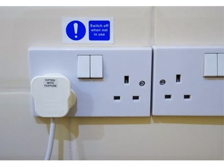 Switch off when not in use label.