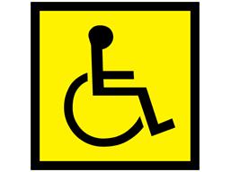 Disabled logo sign