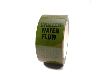 Chilled water flow pipeline identification tape.