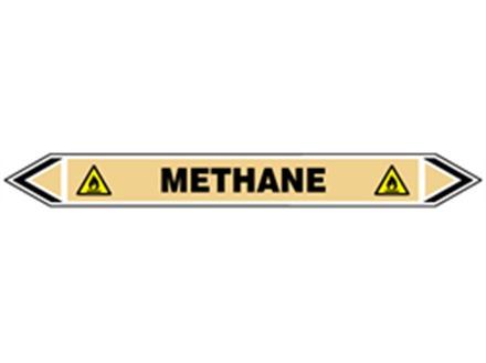 Methane flow marker label.