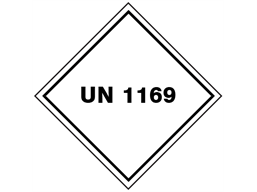 UN 1169 (Adhesive containing flammable liquid) label.