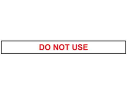 Do not use tape