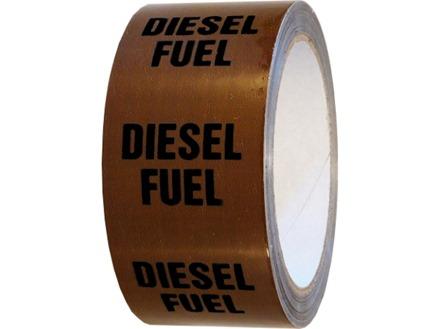 Diesel fuel pipeline identification tape.